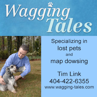 Tim Link with dog display ad